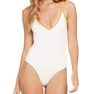 Riding High Ribbed Dakota One-Piece Cream Swimsuit
